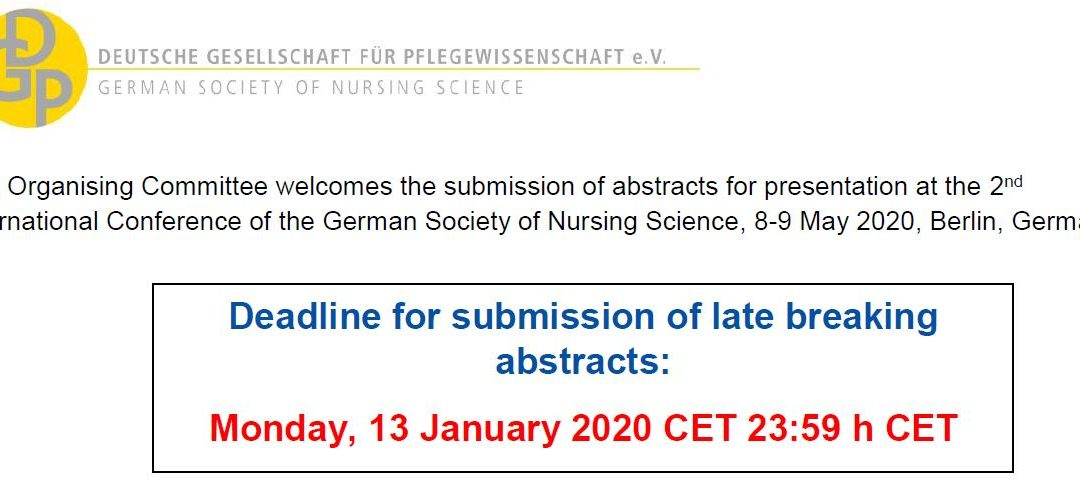 Late breaking Abstracts – 2nd International Conference of the German Society of Nursing Science